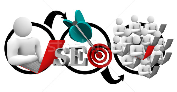 Search Engine Optimization SEO Diagram Increase Traffic Stock photo © iqoncept