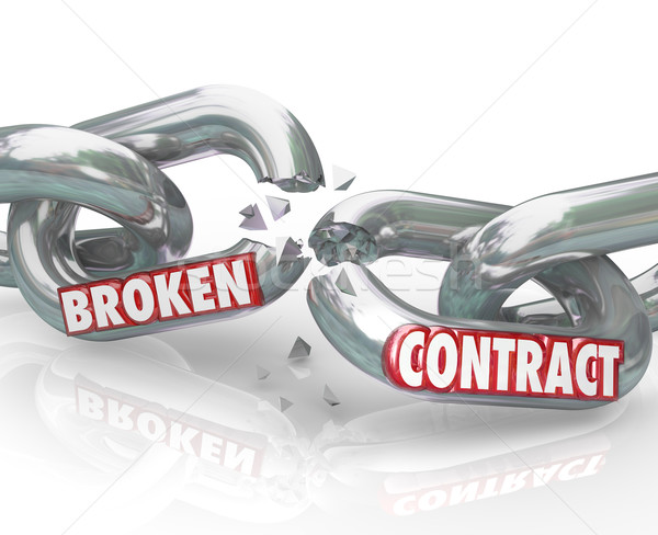 Broken Contract Chain Links Separated Ending the Agreement Stock photo © iqoncept