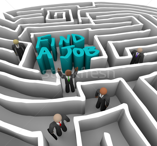 Find a Job - Business People in Maze Stock photo © iqoncept