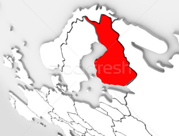 Finland Abstract 3D Map Country Europe Scandinavian Region Stock photo © iqoncept
