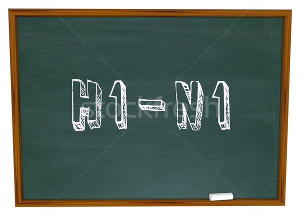 H1N1 - Words on Chalkboard Stock photo © iqoncept