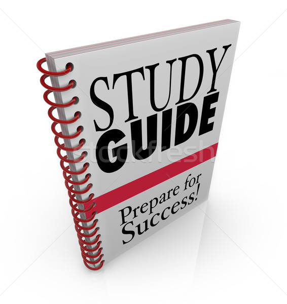 Study Guide Book Cover Preparing for Exam Stock photo © iqoncept