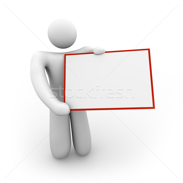 Person Holding a Blank Sign - 2 Stock photo © iqoncept