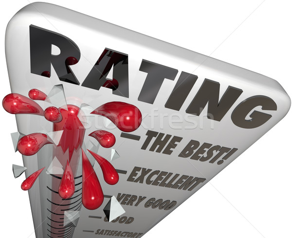Rating Quality Score Review Thermometer Measuring Reputation Stock photo © iqoncept