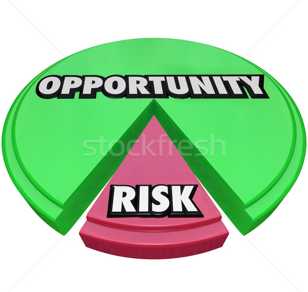 Opportunity Vs Risk Pie Chart Managing Danger Stock photo © iqoncept