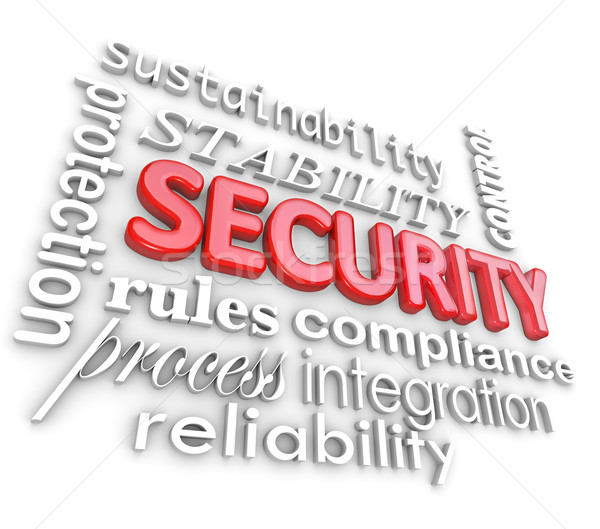 Security Words Protection Network Information Technology Stock photo © iqoncept