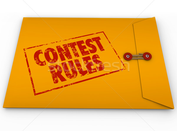 Contest Rules Classified Envelope Terms Conditions Entry Form Stock photo © iqoncept
