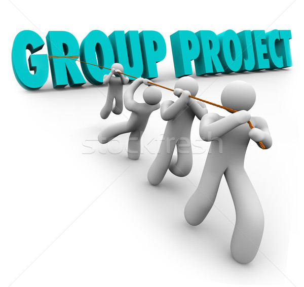 Group Project People Students Workers Cooperation Collaboration Stock photo © iqoncept