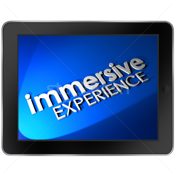 Immersive Experience Computer Tablet Screen Viewing Involvement Stock photo © iqoncept