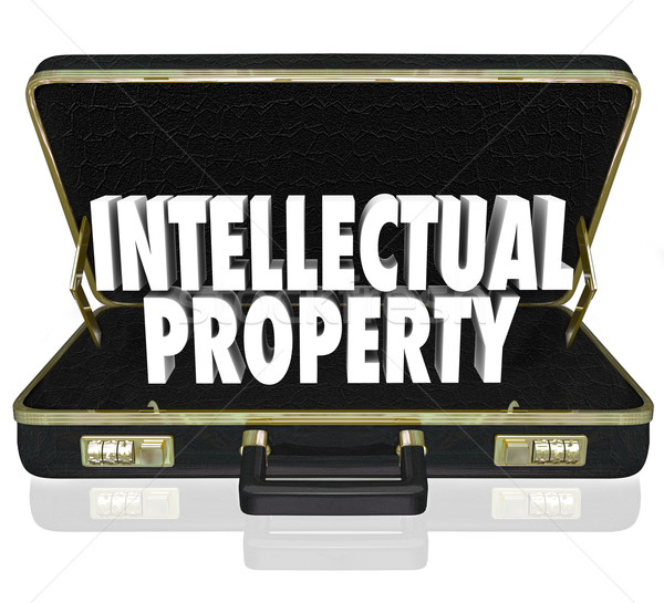 Intellectual Property Words Briefcase Business License Copyright Stock photo © iqoncept
