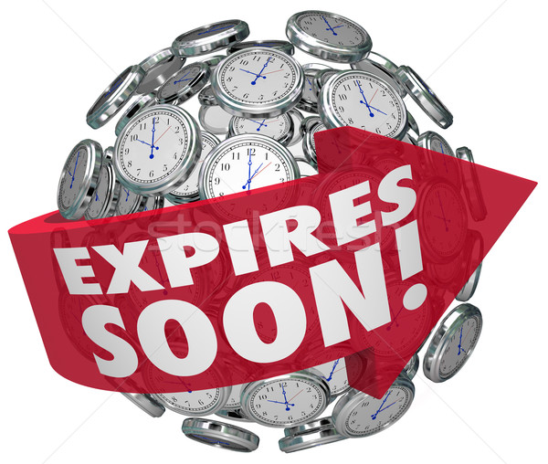 Expires Soon Clock Sphere Limited Time Offer Deadline Stock photo © iqoncept