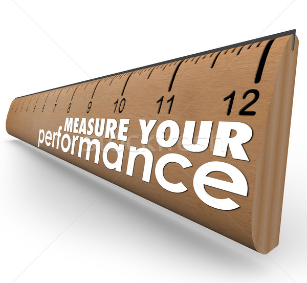 Measure Your Performance Words Ruler Evaluation Review Stock photo © iqoncept