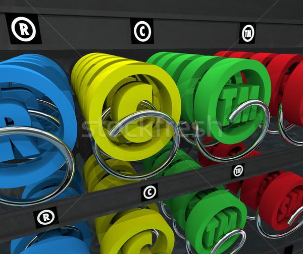 Proprietà intellettuale distributore automatico diritto d'autore marchio di fabbrica simbolo serviz Foto d'archivio © iqoncept