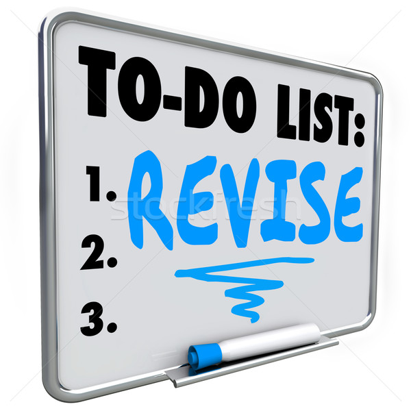 Revise Word To Do List Make Change Improvement Fix Problem Stock photo © iqoncept