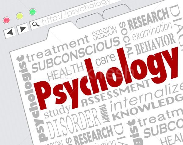 Psychology Website Online Research Mental Health Illness Disorde Stock photo © iqoncept