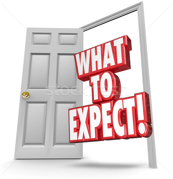 What to Expect 3d Words Open Door Risk Prevention Reduction Stock photo © iqoncept