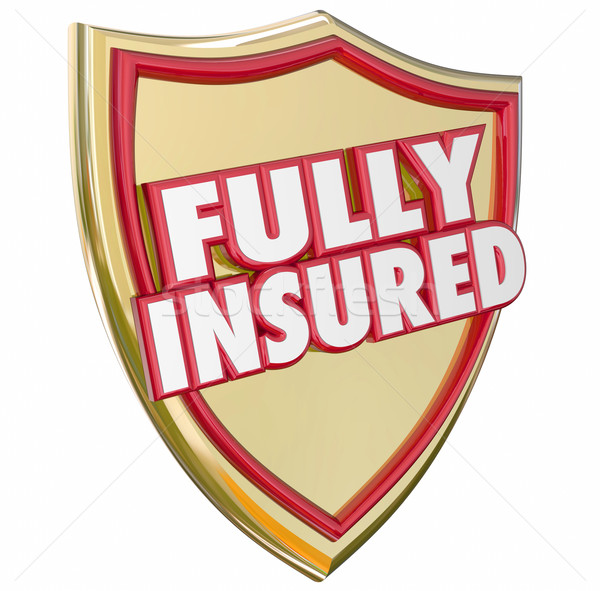 Fully Insured Gold Shield Insurance Policy Coverage Stock photo © iqoncept