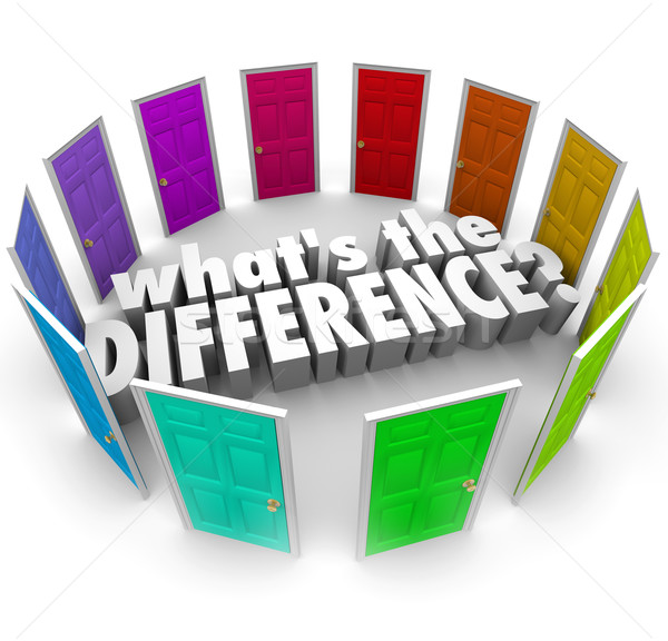 Whats the Difference Many Options Comparing Alternative Ideas Do Stock photo © iqoncept