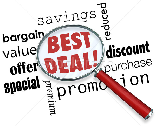 Best Deal Magnifying Glass Savings Value Special Offer Stock photo © iqoncept