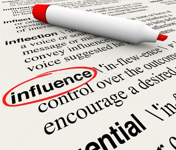 Influencer mot dictionnaire définition rouge marqueur Photo stock © iqoncept