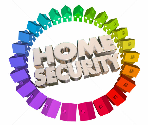 Home Security Safety Crime Prevention Houses 3d Animation Stock photo © iqoncept