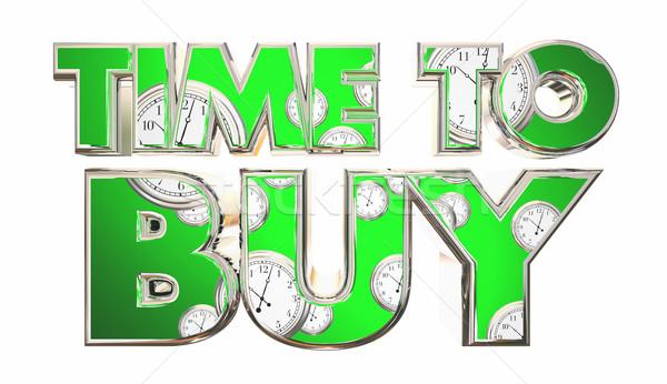 Foto stock: Tiempo · comprar · relojes · cliente · comprar · palabras