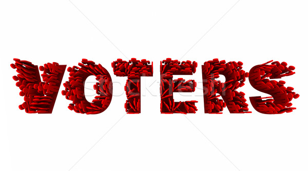 Voters People Election Democracy Demo Groups Word 3d Illustratio Stock photo © iqoncept