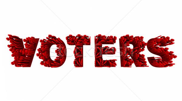 люди выборы демократия группы слово Сток-фото © iqoncept
