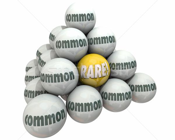 Raro vs rareza valor pelota pirámide Foto stock © iqoncept