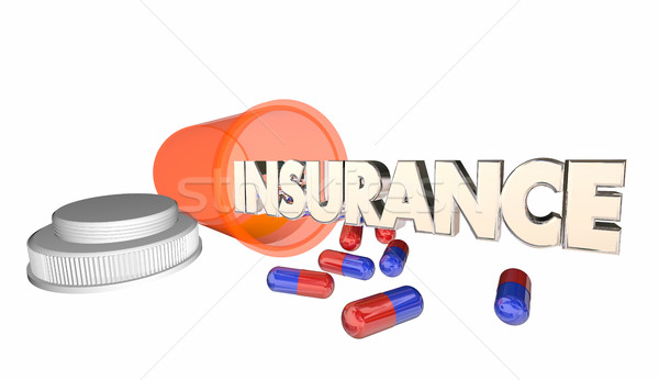 Insurance Medicine Coverage Prescription Bottle 3d Illustration Stock photo © iqoncept