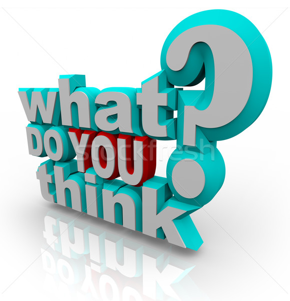 What Do You Think Survey Poll Question Stock photo © iqoncept