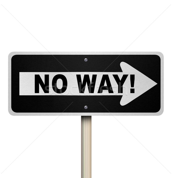 No Way One-Way Street Road Sign Denial Rejection Stock photo © iqoncept