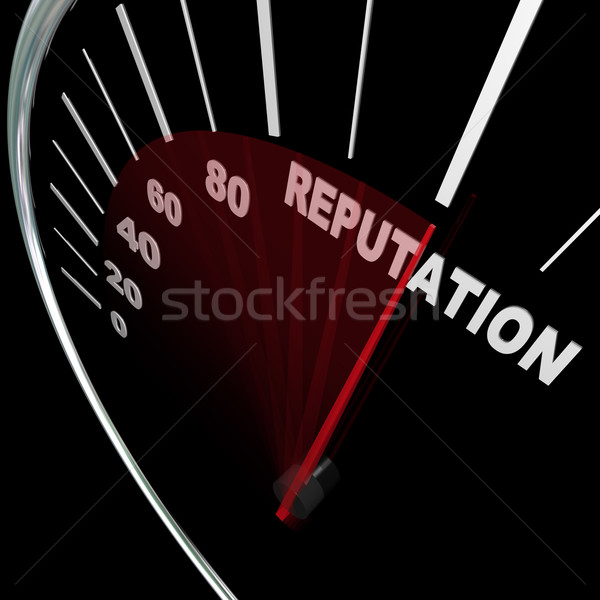 Reputation Speedometer Improving Your Standing Results Stock photo © iqoncept