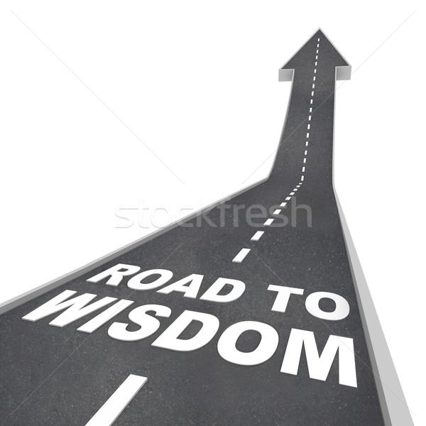 Estrada sabedoria instruções iluminação inteligência palavras Foto stock © iqoncept