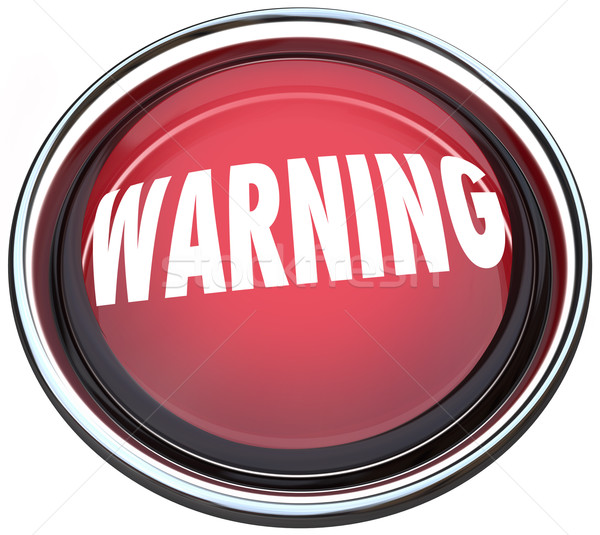 Warning Red Round Button Alarm Light Flashing Stock photo © iqoncept