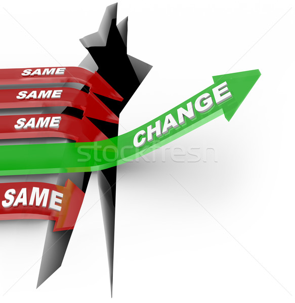 Change Arrow Rises Adapts Vs Same Arrows Failure Stock photo © iqoncept