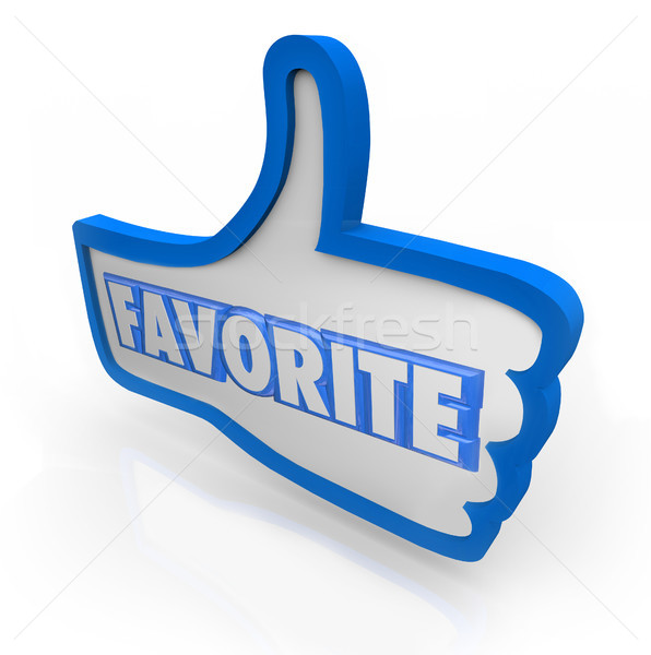 Favorite Word Blue Thumb's Up Social Media Stock photo © iqoncept