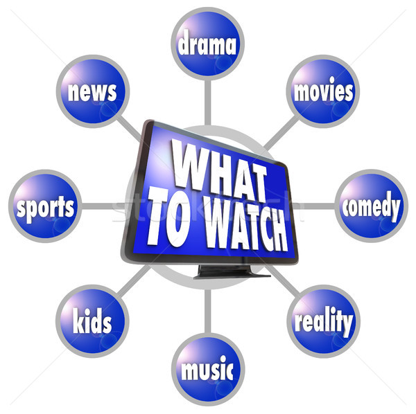 What to Watch HDTV Program Suggestions Ideas Guide Stock photo © iqoncept