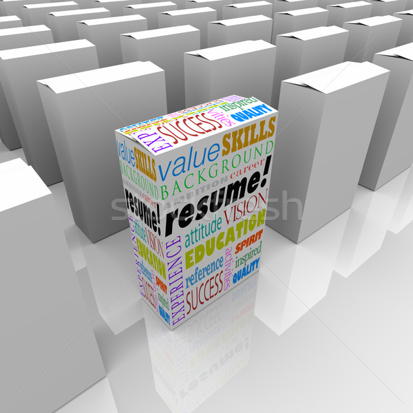 Resume Many Boxes Best One Unique Candidate Standing Out Stock photo © iqoncept