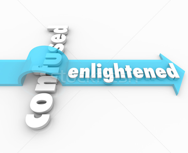 Enlightened Arrow Vs Confusion Enlightenment in Life Stock photo © iqoncept