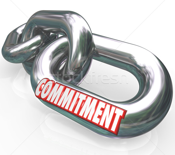 Commitment Word Chain Links Promise Loyalty Stock photo © iqoncept