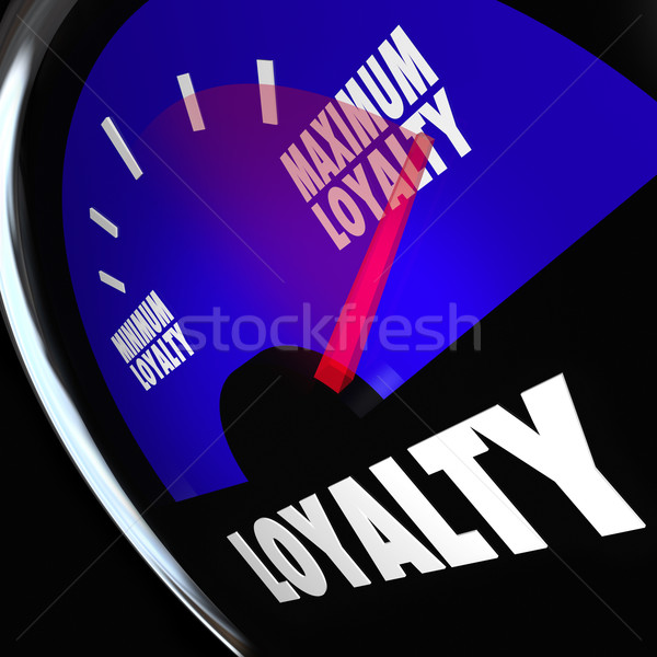 Loyalty Fuel Gauge Measure Customer Retention Level Stock photo © iqoncept