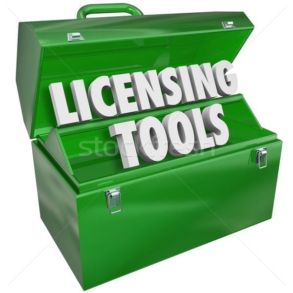 Licensing Tools Toolbox Official Authorization Approval Certific Stock photo © iqoncept