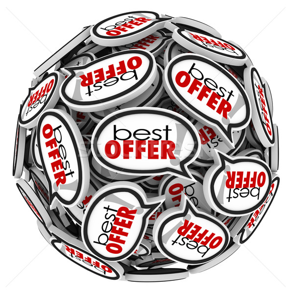 Best Offer Speech Bubbles Highest Bid Price Buyer Stock photo © iqoncept