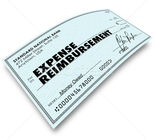 Expense Report Words on Check Reimbursement Payment Stock photo © iqoncept