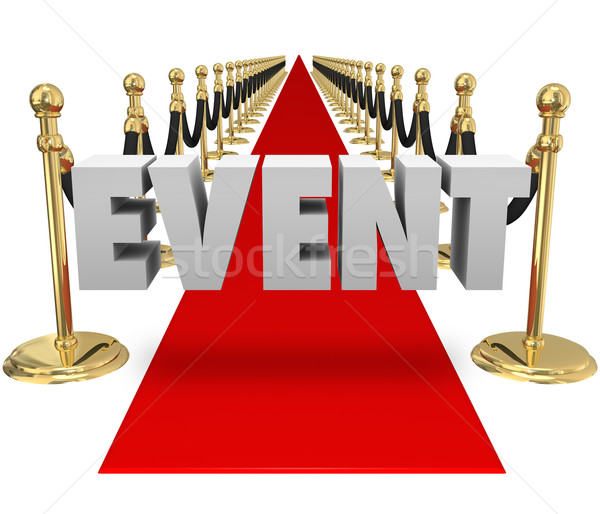 Event Word Red Carpet Exclusive VIP Event Runway Stock photo © iqoncept