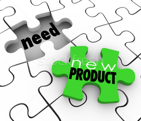 New Product FIlling Need Business Service Sell  Customers Puzzle Stock photo © iqoncept