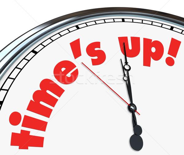 Time's Up - Clock Stock photo © iqoncept