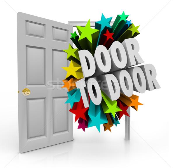 двери продажи перспектива новых звезды Сток-фото © iqoncept