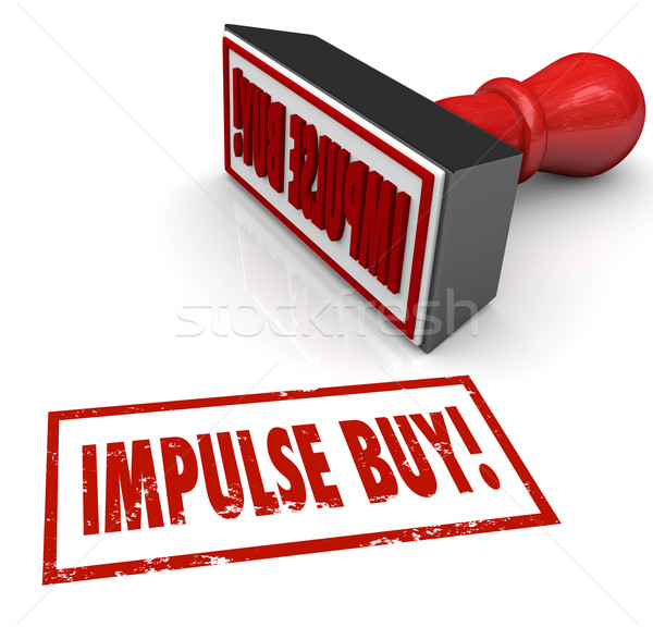 Impulse Buy Stamp Word Desire Feeling Emotional Purchase Stock photo © iqoncept